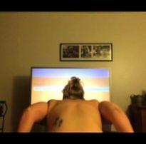 Novinha fazendo exercício forte | blonde tube